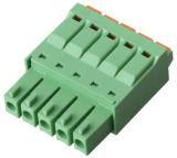 bloco terminal Pluggable com UL, certificação do passo de 3.5mm do Ce