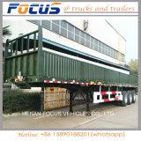 La Chine 40 pieds d'essieu de Dropside de remorque triple semi pour le transport de canne à sucre