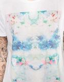 Commerce de gros des hommes de la sublimation de polyester blanc T Shirt