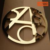 Декоративным золотистым Titanium изготовленный зеркалом логос нержавеющей стали