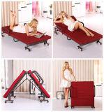 Bâti supplémentaire de pliage amovible de meubles de bâti avec la couverture de matelas lavable