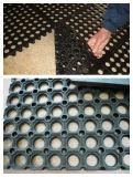 Stuoia di gomma di drenaggio, sicurezza antisdrucciolevole che vuota le stuoie di gomma dell'erba della pavimentazione