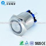 Qn22-a1 22mm het Sluiten van het Type van Ring de Vlakke HoofdSchakelaar van de Drukknop van het Roestvrij staal