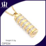 Pendente cilindrico del cristallo delle donne dell'oro di alta qualità