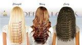 Pelucas llenas rizadas del cordón del pelo humano del enrollamiento de la mujer negra