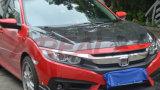 Para Honda Civic X 10 de 2016 Cubierta de fibra de carbono capot