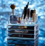 Gaveta acrílica transparente Handmade para o organizador cosmético da composição