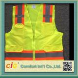Vêtements de travail de la sécurité haute visibilité gilet réfléchissant avec poche