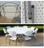 таблица гостиницы 160cm круглая пластичная складывая