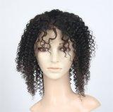 Parrucca piena brasiliana del merletto dei capelli umani con i capelli del bambino, parrucche piene dei capelli umani del merletto per le donne di colore