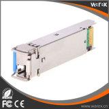 1,25G BIDI bidireccional SFP Gigabit SFP transceptor óptico TX1310nm/RX1550nm a 20km.