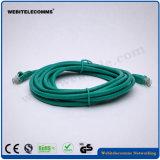 Chaqueta de PVC de la cuerda de corrección de CAT6 UTP con el empaquetado de la ampolla
