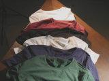 熱い-首の無地の女性のTシャツのあたりで販売する