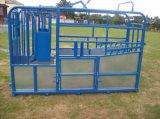 panneaux galvanisés plongés chauds lourds de yard de bétail de 1.6m*2.1m