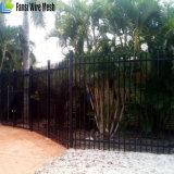 Стальные разделительная стена/фронт ограждая зазор панели 2400X1500 копья черный (h) 90mm