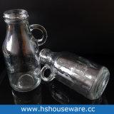 bottiglie per il latte di vetro 250ml con le maniglie ed i contrassegni di misurazione