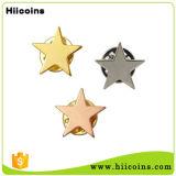 No olvidemos las estrellas de la moda de metal afilados personalizado insignia de solapa
