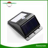 태양 전지판 힘 4 LED PIR 운동 측정기 빛 재충전용 옥외 방수 정원 벽 조경 야드 램프