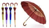 16 Paraplu Van uitstekende kwaliteit van de Schacht van de Grens van de Strook van ribben de Houten (ys-SM26163454R)