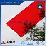 Strato acrilico rosso trasparente