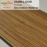 Planches de plancher de vinyle de plancher de clic de vinyle de PVC WPC avec le grain en bois