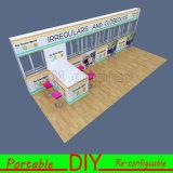 Diseñado a medida sostenibles portátiles modulares híbridos Muestra de esquina Inline Island