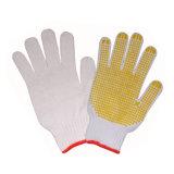 PVC выскальзования новой конструкции анти- ставит точки перчатки хлопка садовничая