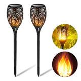 Decorazione della lampada della fiamma della luce intermittente di Dancing di illuminazione del percorso del comitato solare dell'indicatore luminoso delle torce del LED nuova