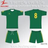 Healong販売のための新しいデザイン服装ギヤ昇華男子サッカーセット