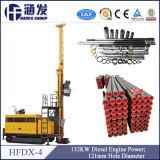Tipo hidráulico completo de múltiples funciones plataforma de perforación Hfdx-4 de la correa eslabonada