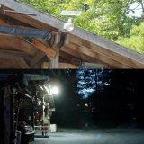 Lámpara de pared solar de la luz de la bola del jardín del LED con el sensor de movimiento