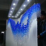Hotel-Vorhalle-hängende Lampen-blauer übergebender Luxuxkristallleuchter
