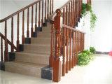 Couleur chaude Réhabilitation des anciennes façons de l'accoudoir de l'escalier en bois véritable