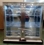 Refrigerador da barra da parte traseira de porta dobro com aço inoxidável
