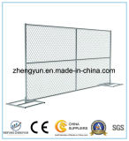 Сваренные временно панели загородки звена цепи, портативная панель загородки сетки звена цепи