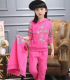 子供の羊毛の子供の女の子のスポーツのスーツ「カーディガンSwg129のためのsの摩耗