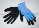Coated латекса 3/4 удвоинное, Sandy наружный, перчатки безопасности работая