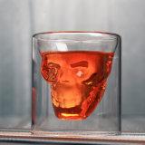 Vidro de whisky de forma criativa a forma de cranio copo de vinho Cocktail copo de vinho