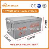 sistema eléctrico solar de la apagado-Red 1000W con la aprobación de la ISO y del Ce