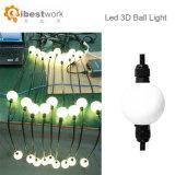 DMX512 couleur laiteuse chaîne à billes en 3D pour la décoration lumineuse à LED