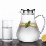 Exportação para a Europa Glass Chaleira Dom Arremessador de vidro de chá e café em vidro chaleira