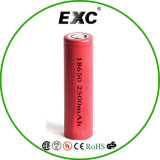Nachfüllbares Lithium Ion 18650 Battery 3.7V 2200/2500/2600 Milliamperestunde für Flashlight, Head Light