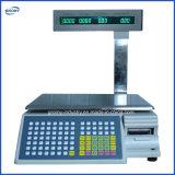 Balanzas de la impresión del código de barras de la escala de la impresora de la escritura de la etiqueta del supermercado