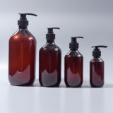 Bernsteinfarbige Boston-runde Haustier-Lotion-Shampoo-Flasche (EF-PL07)