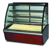 Холодный холодильник индикации витрины для торта