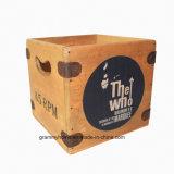 """O que a caixa de registro 7"""" Engradado de madeira Vintage único de vinil Gravar Case Mod"""