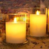 Recipientes de vidro decorativos da vela da venda quente