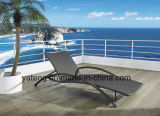 Foshanoutdoorの総合的なPE-の藤屋外の折る浜の家具の日曜日のLoungerのChaiseのLounger (YTF465-1)
