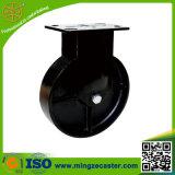 Hochleistungsfußrolle, industrielle Fußrolle mit schwarzem Roheisen-Rad