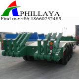3개의 BPW 차축 수송 굴착기 낮은 침대 트럭 트레일러